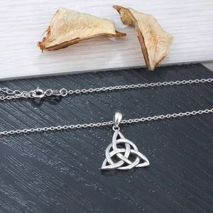 Jewelry - A New Sterling Silver Trinity Knot Necklace